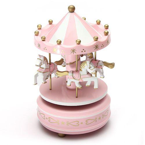 d tails sur man ge musical chevaux bois carrousel boite. Black Bedroom Furniture Sets. Home Design Ideas