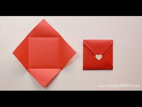 C mo hacer sobres de papel originales para san valent n - Como hacer tarjetas para regalar ...