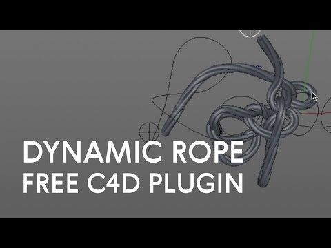 2 Horope C4d Plugin Dynamic Rope From Spline Youtube Cinema 4d Tutorial Dynamic Rope Cinema 4d