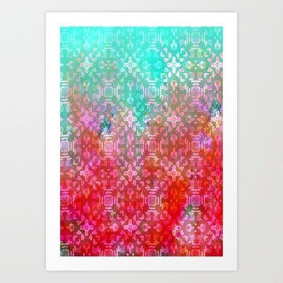 Blushing Tribal  Art Print by Nikkistrange - $18.00