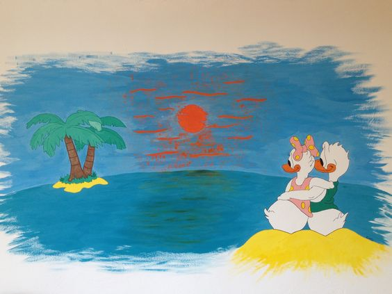 Donald Duck wall paint i made in an childerhome in Bulgaria :)