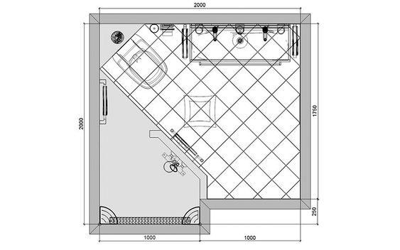 Badkamer-14-plattegrond