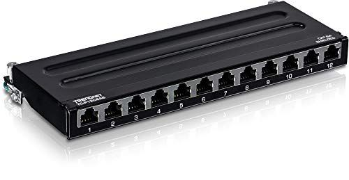 Trendnet 12 Port Cat6a Shielded Wall Mount Patch Panel 1000base T 10gbase T Support Wall Mounting Options Compatible With Cat5e Cat6 Cat6a 110 Or Krone Support Wall Patch Panel Shield
