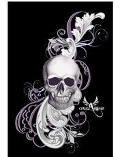 Purple Skull Design