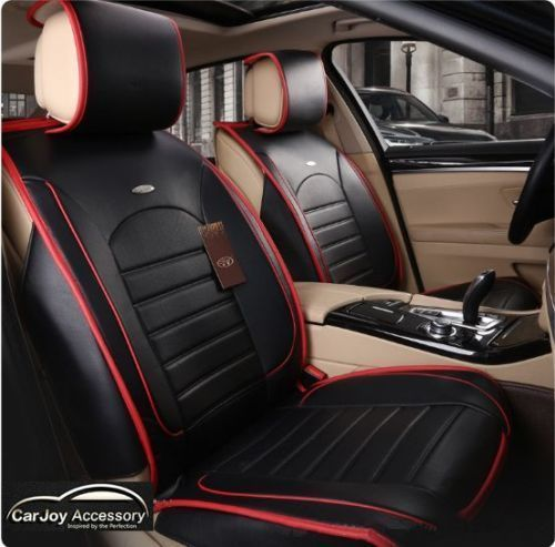 Black Red Stripe Leather Car Seat Cover Kia Sportage Sorento Optima Rio
