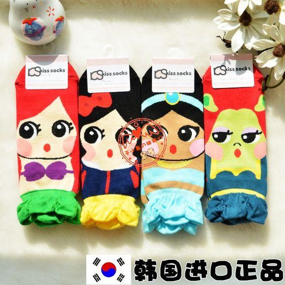 韩国袜子进口短袜代购 夏季女袜 公主可爱卡通船袜 纯棉浅口 薄款-淘宝网