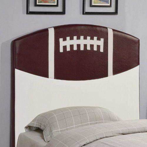 Twin Size Kid Headboard with Football Design
