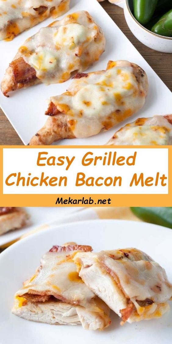 Easy Grilled Chicken Bacon Melt