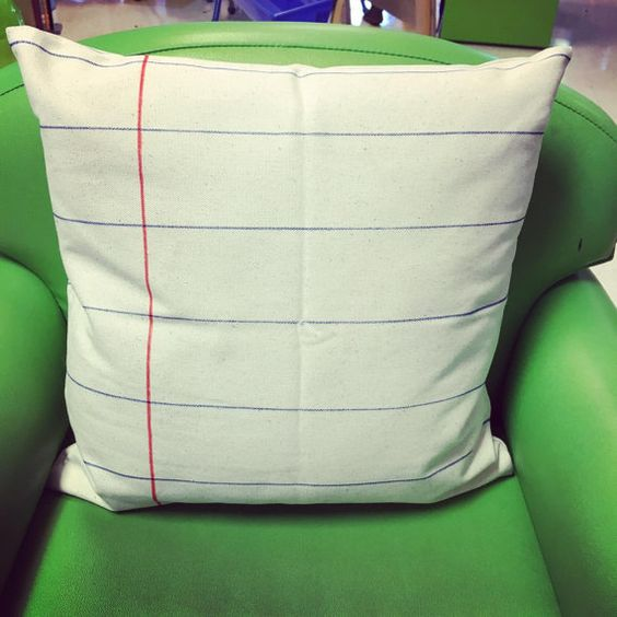 Notebook Paper Pillow Cover by TheNumberW on Etsy