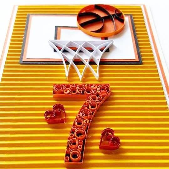 Quilled Basketball Card This Card Is Great For Kids Of Any Age Or For Someone Who Is A Basketball Enthu Paper Quilling Patterns Quilling Patterns Kids Playing