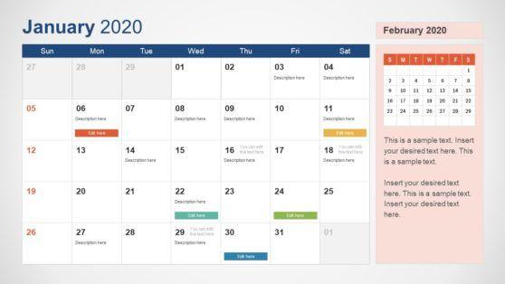2020 Calendar Powerpoint Template Calendar Template Excel Calendar Template Microsoft Powerpoint