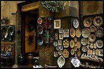 Ceramic plate store. Orvieto, Umbria ( color)