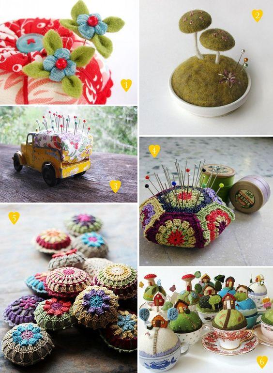 Handmade pincushions