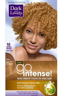 Dark And Lovely Go Intense Hair Color 10 Golden Blonde