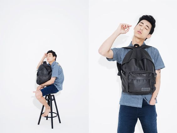 Korea Model모델 /Idol아이돌: 孫旻浩 Eastpak Lookbook