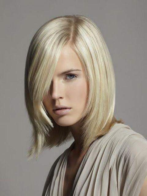 Haare frisuren blonde halblange Frisur halblange