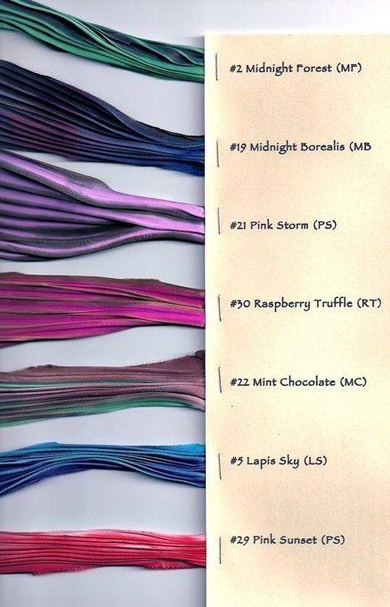 Silk Shibori Pleated Ribbon by shiborigirl