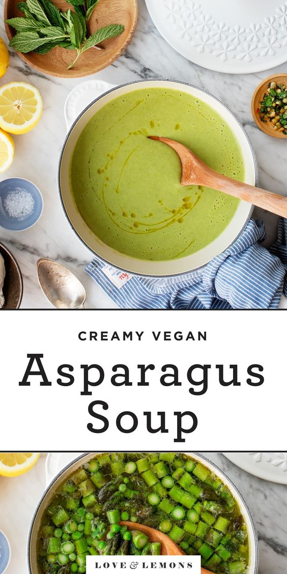 Creamy Asparagus Soup Recipe - Love and Lemons