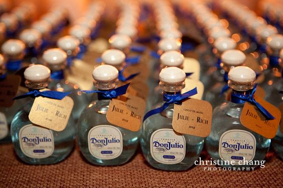 Mini Tequila Bottles Coolest Wedding Favors Ever Mary Pinterest And