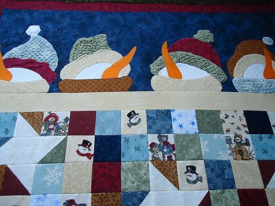 Snowman Sleeping Under The Stars Rabbit Hill Pattern