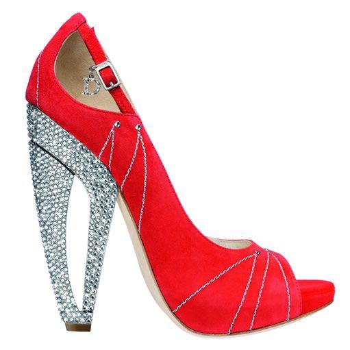 DIOR red diamante