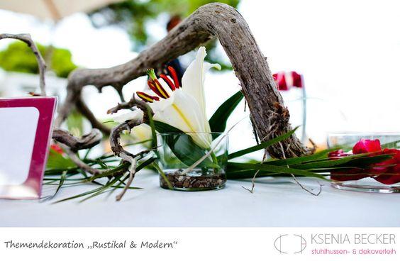 rustikal und modern hochzeitsdekoration tischdekoration mit lilien ...