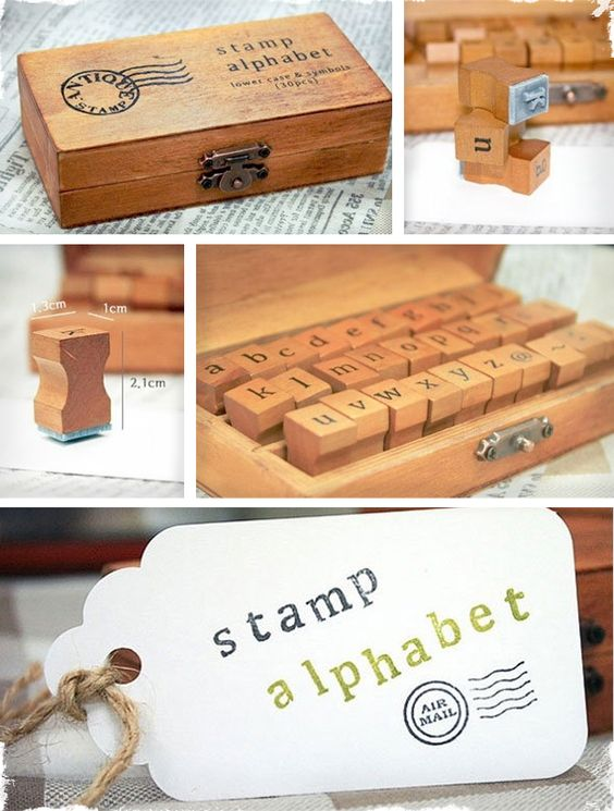 $11 30 Piece Lowercase Stamp Kit - Great for Personalizing Gifts! at VeryJane.com  @Marcia Brockmeyer I think you need to get these!!!  :))