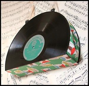 Cool Upcycled Vinyl Record Purse With Vintage 50s Atomic