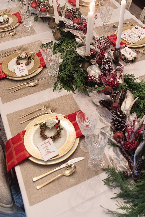 Ideias Criativas Para Decorar A Mesa No Natal Decoracao Mesa De Natal Decoracao De Natal Mesa De Natal