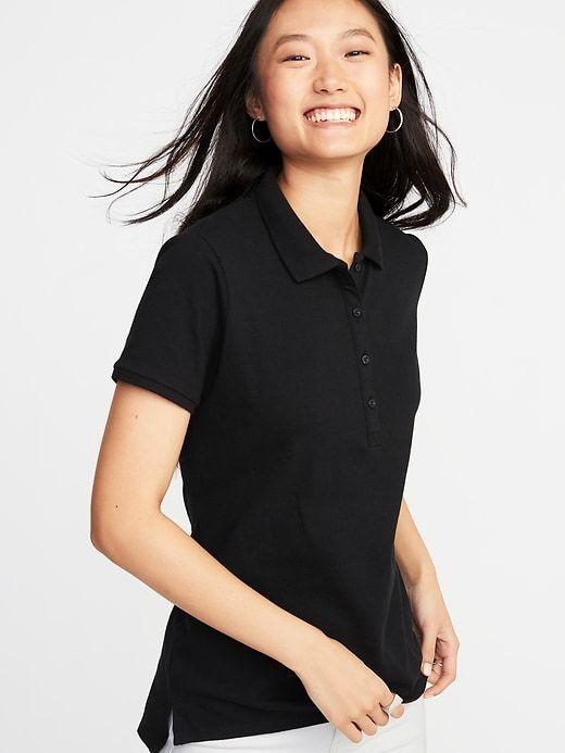 Uniform Pique Polo for Women | Old Navy | Women, Collars for women ...