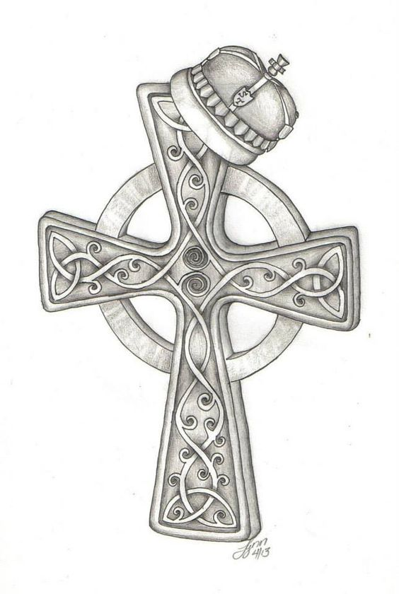 crosses crown tattoo design and celtic crosses on pinterest. Black Bedroom Furniture Sets. Home Design Ideas