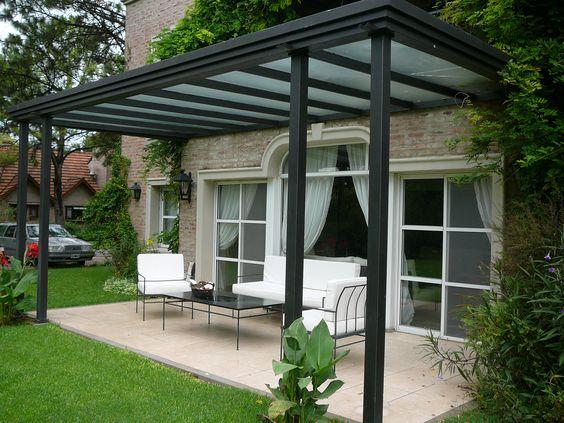 Galer a con techo de vidrio armado terrazas pinterest - Techos de vidrio para terrazas ...