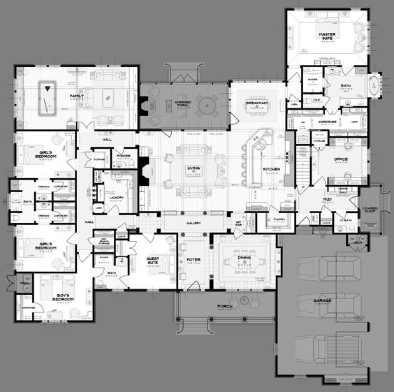 5 bedroom bungalow house plans