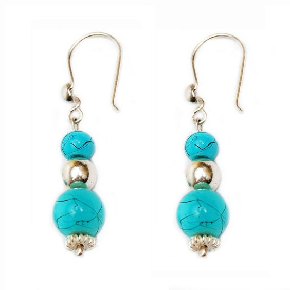 sterling silver 9.25 turquoise earrings by PINKPANTHERJEWELRY