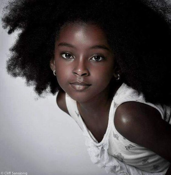 Photo by Cliff Sanajong || Afro kids. Kid portrait. Natural hair kids. Curly…