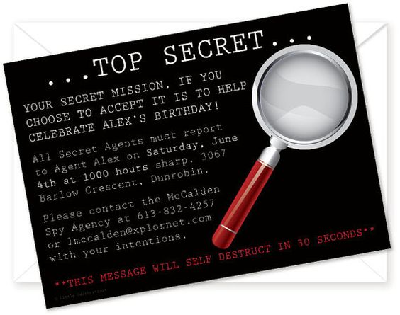 Mystery party for kids detective games decor and invitations how to throw a mystery party for kids ideas for spy worthy games stopboris Image collections