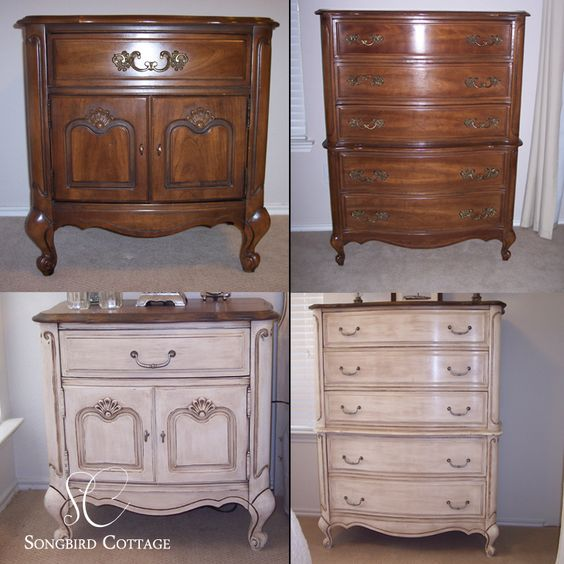 Antes y después con Chalk Paint®, en estilo provenzal