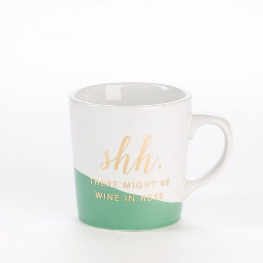 "Color Block ""Shh"" Mug - Drinkware - Gifts"