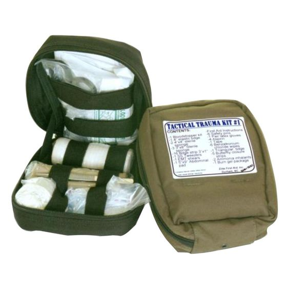 Fully Stocked MOLLE Tactical Trauma Kit First Aid Pouch