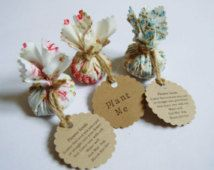 Set of 10 Country Garden Flower Seed Wedding Favours with Hand Stamped Circular…