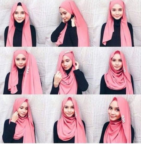 Cara Menggunakan Kerudung Pashmina Segi Empat Inspirasi Fashion Hijab Tutorial Hijab Mudah Busana Hijab Modern