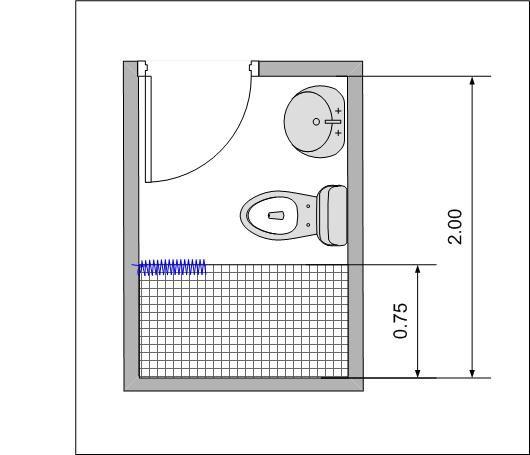 ห องน ำขนาด 1 5x2 เมตร จ ดวางตำแหน งอย างไรด คร บ Home2all Com ไอเด ย ห องน ำ ห องน ำขนาดเล ก แปลนแบบบ าน