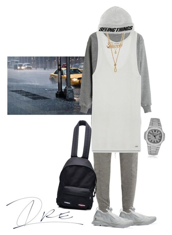 """Should Have Left Earlier"" by stylinwitdre ❤ liked on Polyvore featuring Fear of God, Reebok, Yves Saint Laurent, Gucci, Off-White, Patek Philippe, Vetements, men's fashion and menswear"