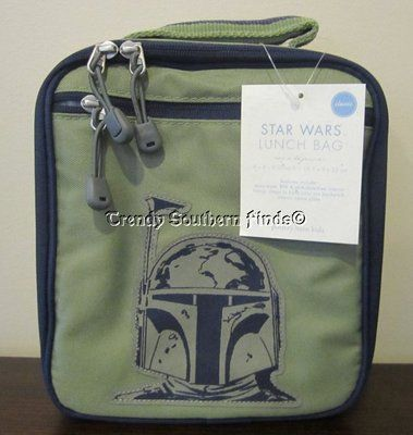 Nwt Pottery Barn Kids Star Wars Boba Fett Lunch Bag Box