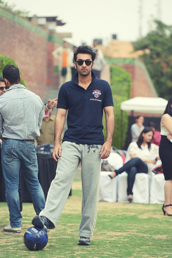 Ranbir Kapoor loves football