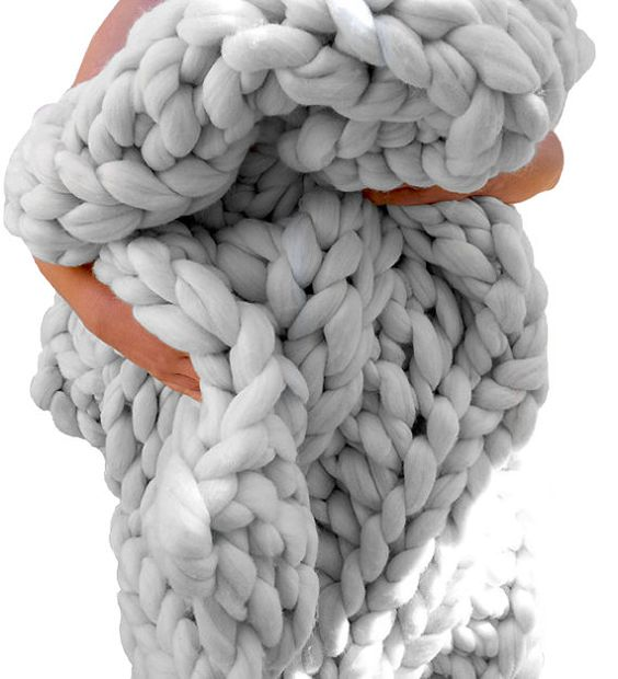 super chunky knit blanket throw hand knit from responsibly sourced luxurious merino wool