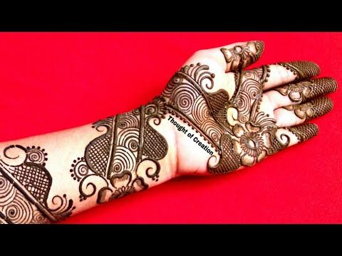 stylish arabic mehndi design new