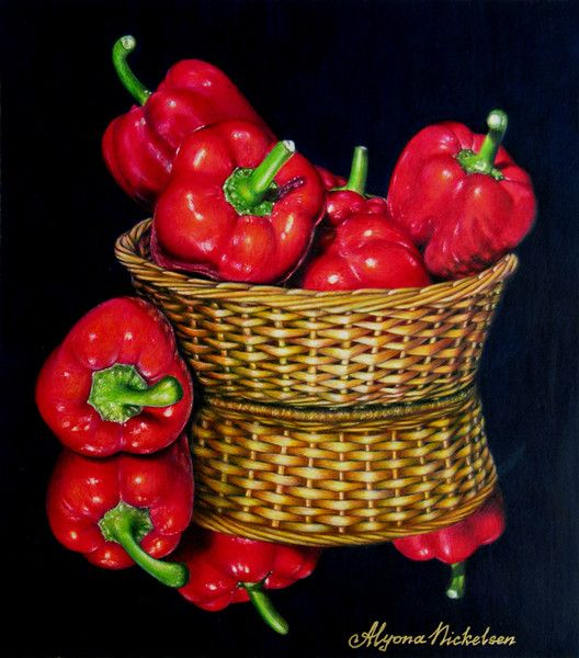 """Blazing Bells"" by Alyona Nickelsen on ARTwanted. Colored pencil art.:"