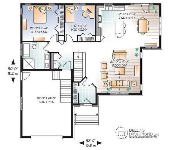 W3260 v1 maison style cap cod 2 chambres garage salle for Plan maison familiale
