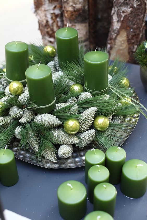 Christmas Get Ready To Show Off Your Decorating Skills Christmas Centerpieces Diy Christmas Advent Wreath Christmas Decorations